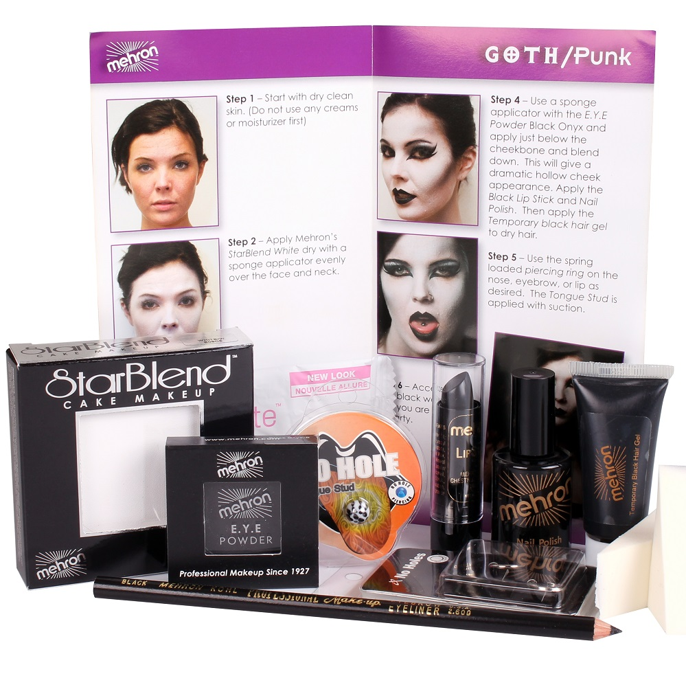 Character Makeup Kit Goth Punk Premium